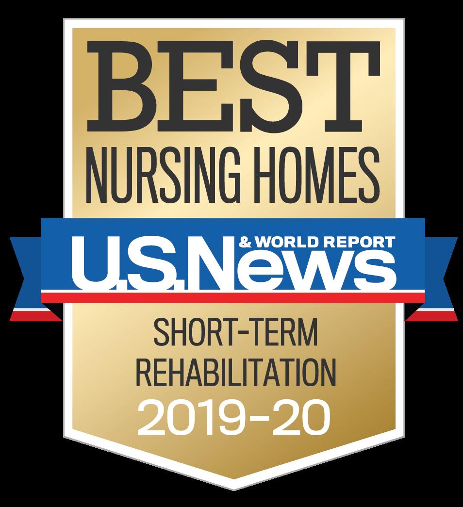 U.S. News Best Nursing Homes Short-Term Rehabilitation 2019-2020 Award
