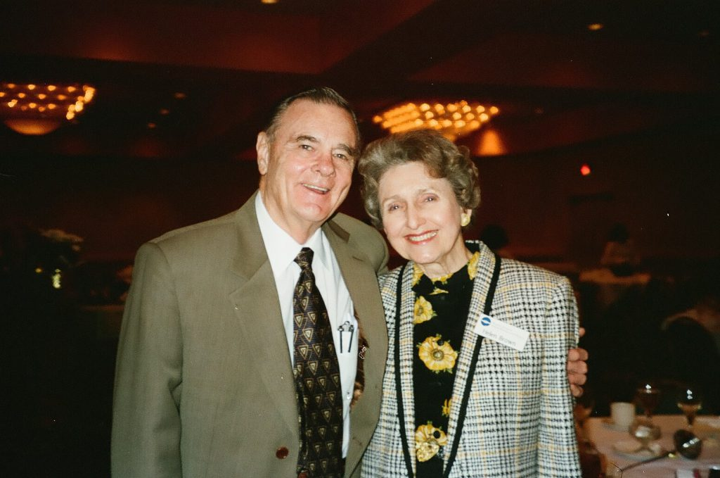 Dr. J Brooks Brown with wife Helen Brown
