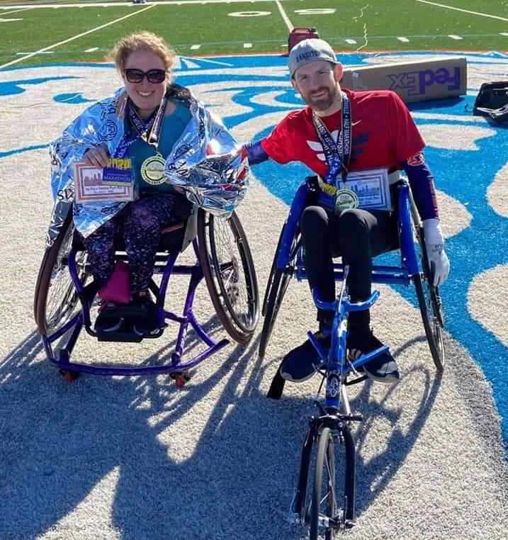 Sarah and Harris after their first marathon
