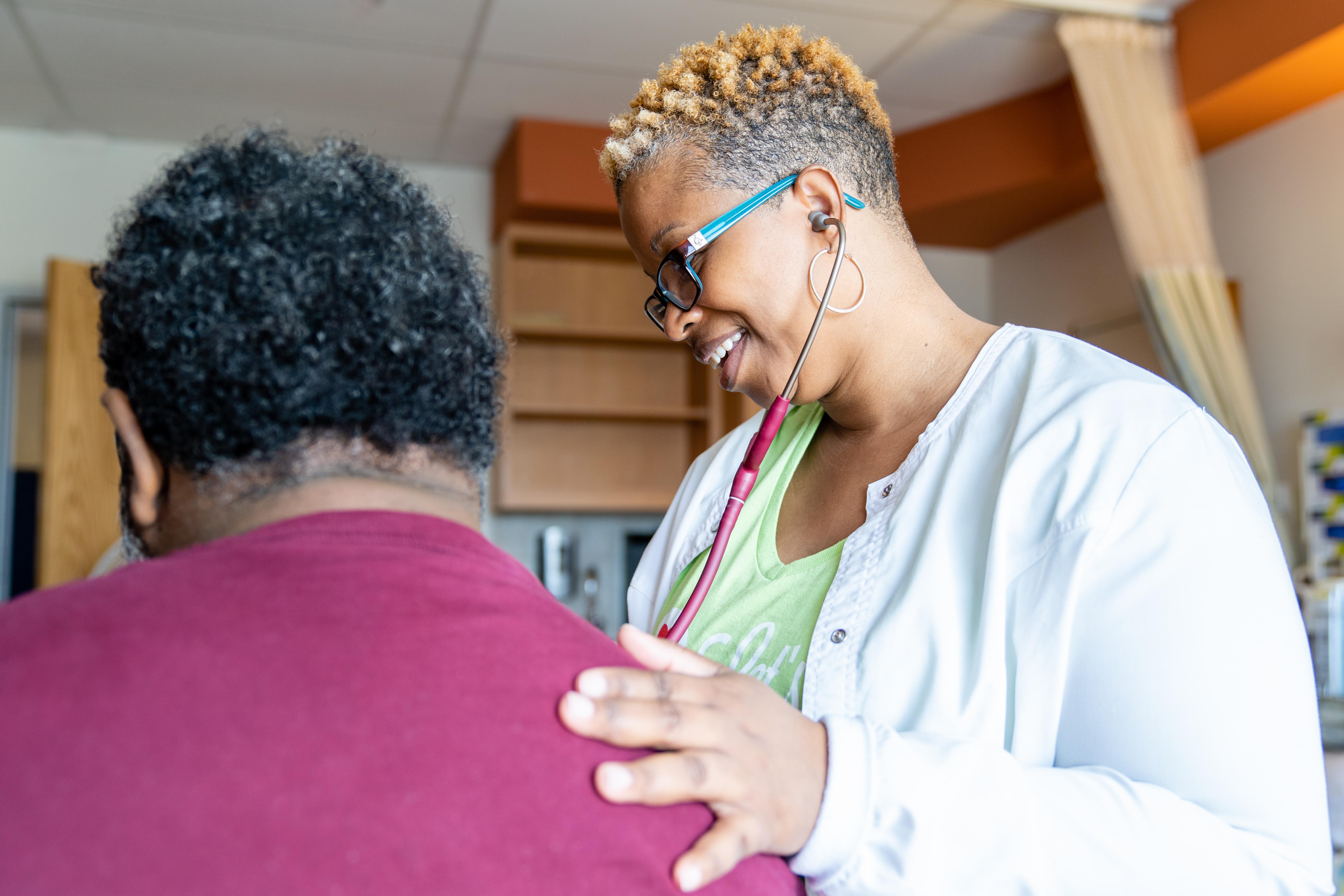 Nurse in inpatient rehabilitation